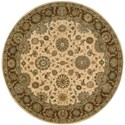 "Nourison Living Treasures 5'10"" x 5'10"" Beige Round Rug - Item Number: LI05 BGE 510X510"