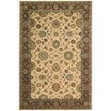 "Nourison Living Treasures 5'6"" x 8'3"" Beige Rectangle Rug - Item Number: LI05 BGE 56X83"