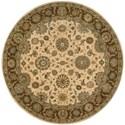 "Nourison Living Treasures 7'10"" x 7'10"" Beige Round Rug - Item Number: LI05 BGE 710X710"
