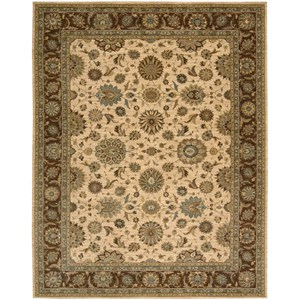 "Nourison Living Treasures 8'3"" x 11'3"" Beige Rectangle Rug"