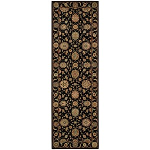 "Nourison Living Treasures 2'6"" x 8' Black Runner Rug"