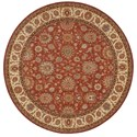 "Nourison Living Treasures 7'10"" x 7'10"" Rust Round Rug - Item Number: LI05 RUS 710X710"