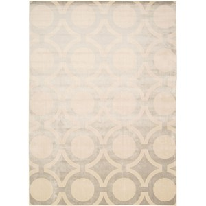 "Nourison Luminance 9'3"" x 12'9"" Cream Grey Area Rug"