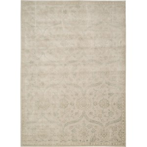 "Nourison Luminance 9'3"" x 12'9"" Cream Mint Area Rug"