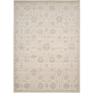 "Nourison Luminance 3'5"" x 5'5"" Cream Area Rug"