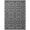 "Nourison Luminance 3'5"" x 5'5"" Graphite Area Rug - Item Number: 22212"