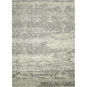 "Nourison Luminance 9'3"" x 12'9"" Ivory Black Area Rug"