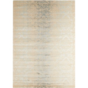 "Nourison Luminance 3'5"" x 5'5"" Sea Mist Rectangle Rug"