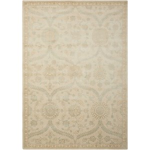 "Nourison Luminance 5'3"" x 7'5"" Cream Mint Rectangle Rug"