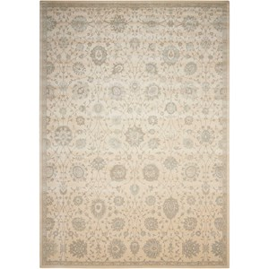 "Nourison Luminance 3'5"" x 5'5"" Cream Rectangle Rug"
