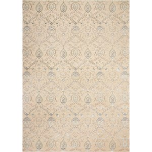 "Nourison Luminance 9'3"" x 12'9"" Cream Rectangle Rug"