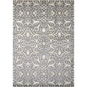 "Nourison Luminance 5'3"" x 7'5"" Graphite Rectangle Rug - Item Number: LUM08 GRAPH 53X75"