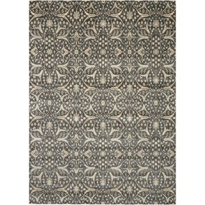 "Nourison Luminance 7'6"" x 10'6"" Graphite Rectangle Rug"