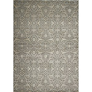 "Nourison Luminance 9'3"" x 12'9"" Steel Rectangle Rug"