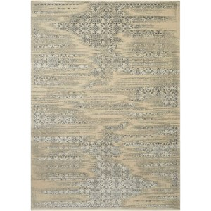 "Nourison Luminance 3'5"" x 5'5"" Bone Rectangle Rug"