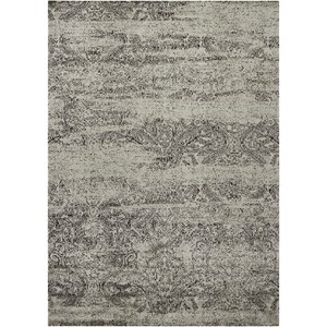 "Nourison Luminance 9'3"" x 12'9"" Ivory/Black Rectangle Rug"