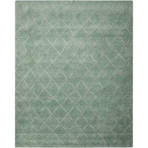 Nourison Lunette 8' x 10' Aqua Rectangle Rug