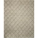 "Nourison Lunette 5' x 7'6"" Silver Rectangle Rug - Item Number: LNT01 SIL 5X76"