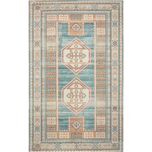 "Nourison Madera 3'6"" X 5'6"" Teal Green           Rug"