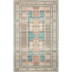 "Nourison Madera 6'6"" X 9'6"" Teal Green Rug"