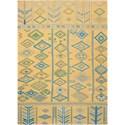 Nourison Madera 5' X 7' Saffron Rug - Item Number: MAD05 SAFRN 5X7