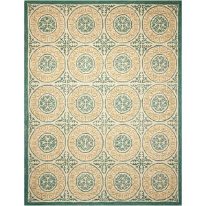 "Nourison Marina 8' x 10'6"" Ivory Rectangle Rug"