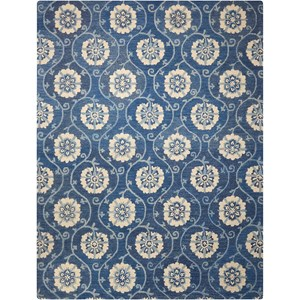 "Nourison Marina 8' x 10'6"" Navy Rectangle Rug"
