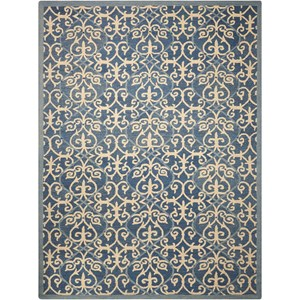 "Nourison Marina 8' x 10'6"" Denim Rectangle Rug"