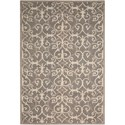 "Nourison Marina 5' x 7'6"" Silver Rectangle Rug - Item Number: MRN10 SIL 5X76"