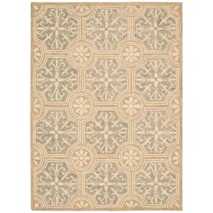 "Nourison Marina 8' x 10'6"" Stone Rectangle Rug"