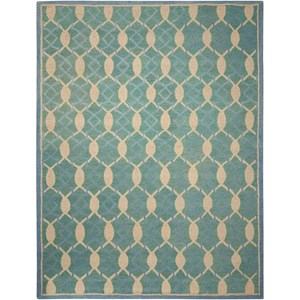 "Nourison Marina 8' x 10'6"" Aqua Rectangle Rug"