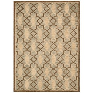 "Nourison Marina 5' x 7'6"" Light Green Rectangle Rug"