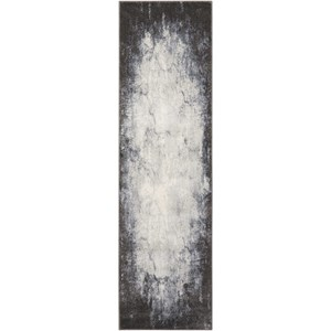 "Nourison Maxell 2'2"" X 7'6"" Iv/Grey Rug"