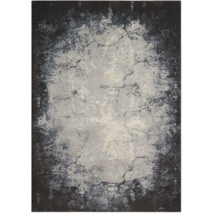 "Nourison Maxell 5'3"" X 7'3"" Iv/Grey Rug"