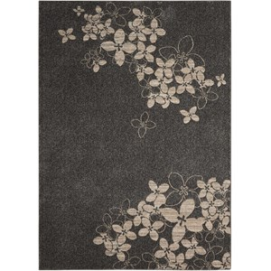"Nourison Maxell 9'3"" X 12'9"" Charcoal Rug"