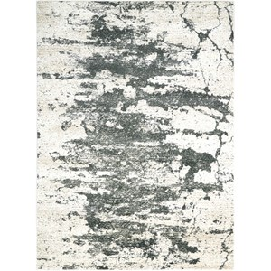 "Nourison Maxell 9'3"" X 12'9"" Iv/Grey Rug"