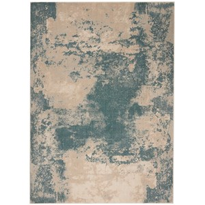 "Nourison Maxell 9'3"" X 12'9"" Ivory/Teal Rug"
