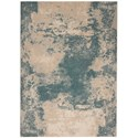 "Nourison Maxell 9'3"" X 12'9"" Ivory/Teal Rug - Item Number: MAE13 IVTEA 93X129"