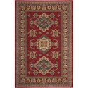 "Nourison Maymana 3'9"" x 5'9"" Red Area Rug - Item Number: 28076"
