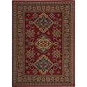 "Nourison Maymana 5'3"" x 7'4"" Red Area Rug - Item Number: 28078"
