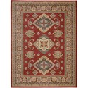 "Nourison Maymana 7'10"" x 10'10"" Red Area Rug - Item Number: 28079"