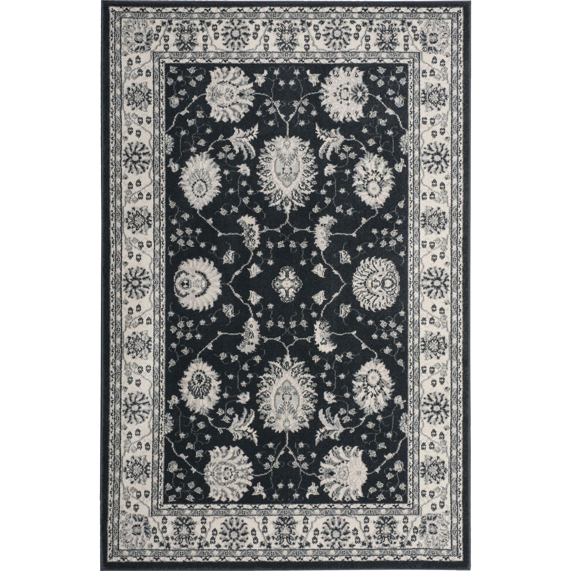 "Nourison Maymana 3'9"" x 5'9"" Charcoal Area Rug - Item Number: 28082"