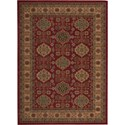 "Nourison Maymana 5'3"" x 7'4"" Red Area Rug - Item Number: 28117"