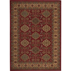 "Nourison Maymana 9'3"" x 12'9"" Red Area Rug"