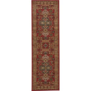 "Nourison Maymana 2'2"" x 7'6"" Red Area Rug"