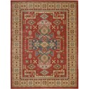 "Nourison Maymana 3'9"" x 5'9"" Red Area Rug - Item Number: 28136"