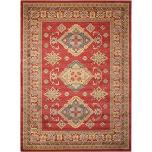 "Nourison Maymana1 9'3"" X 12'9"" Red Rug"