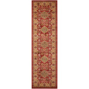 "Nourison Maymana1 2'2"" X 7'6"" Red Rug"