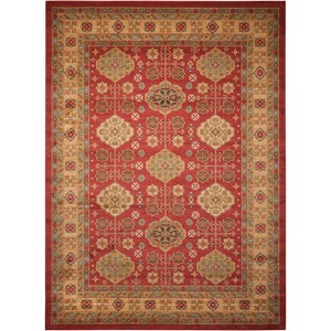 "Nourison Maymana1 3'9"" X 5'9"" Red Rug"