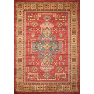 "Nourison Maymana1 7'10"" X 10'10"" Red Rug"